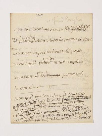 BERNARD (Émile). Lettre autographe signée...