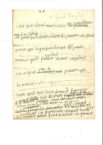 BOSSUET ( Jacques-Bénigne). Corrections autographes...
