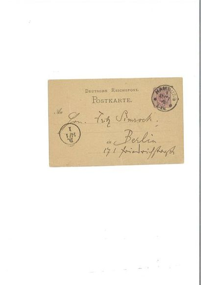 BRAHMS ( Johannes). Carte autographe signée...
