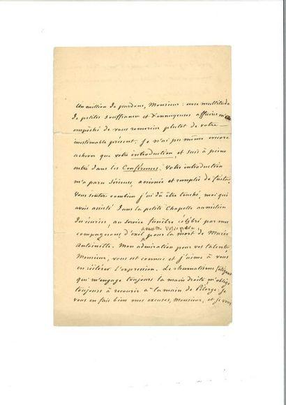 CHATEAUBRIAND (François-René de). Lettre...