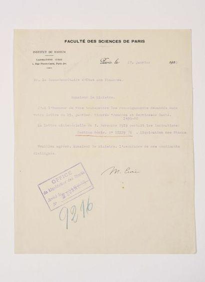 CONDÉ (Louis de Bourbon, prince de). Lettre...