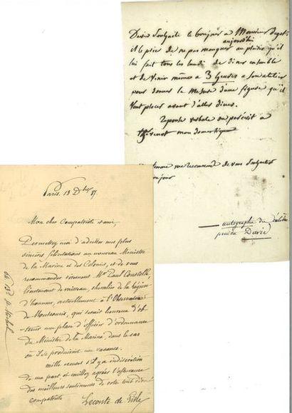 DAVID ( Jacques-Louis). Lettre autographe...