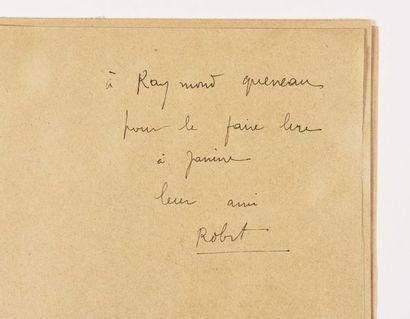 DESNOS (Robert). Bonnes feuilles de son recueil...