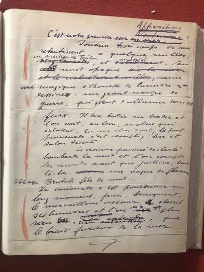 DORGELÈS (Roland). Manuscrit autographe intitulé...