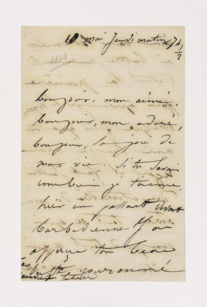 DROUET ( Juliette). Lettre autographe signée...