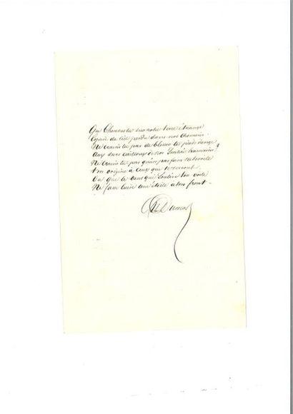 DUMAS père (Alexandre). Manuscrit poétique...