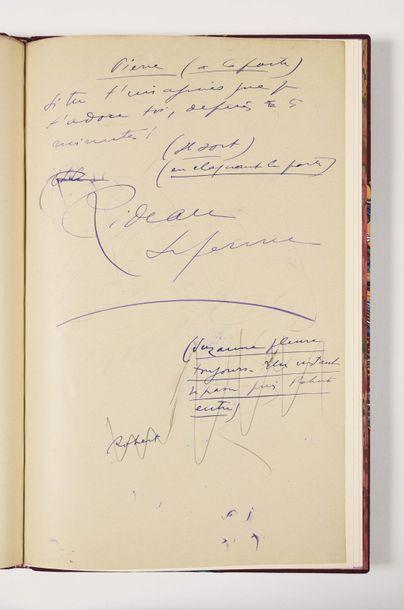 GIONO (Jean). Manuscrit autographe signé...