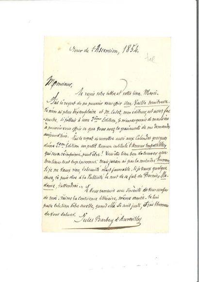 BARBEY D'AUREVILLY ( Jules). Lettre autographe...
