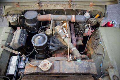 1958 HOTCHKISS « JEEP » M201 AVEC REMORQUE 1/4T Numéro de série 05313 Même propriétaire...