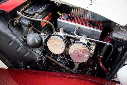 1952 MG TD Numéro de série XPAGTD22893  Conduite à gauche  Carte grise française...