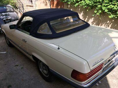 1977 MERCEDES-BENZ 450 SL Numéro de série 10704412041643  Carte grise française de...