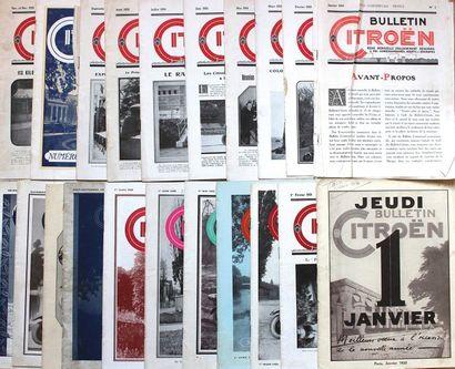 Bulletins Citroën de Janvier 1924 à Décembre1925...