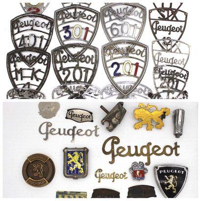Sigles Peugeot  Badges de radiateur en métal...