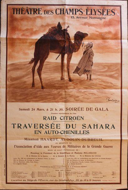 Pierre Louÿs (1894-1976)  Affiche annoncant...