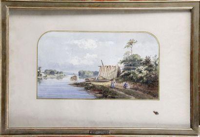Léoncé IMBAULT, 1845-1882. Bord de rivière...