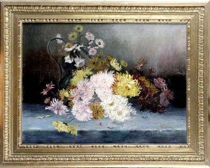 VALENTINE, XIXème siècle. Jeté de fleurs....