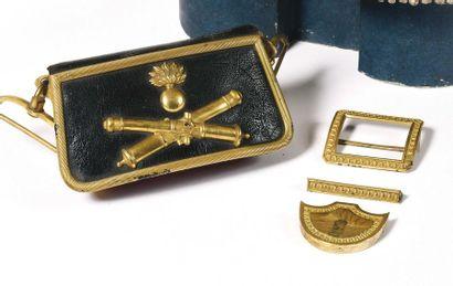 Coffret de giberne d'officier d'artillerie....