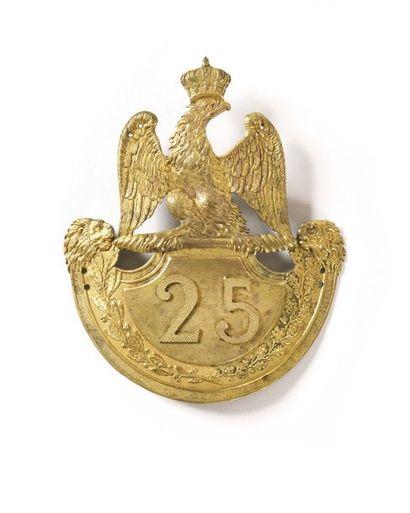 Plaque de shako modèle 1812 d'officier du...