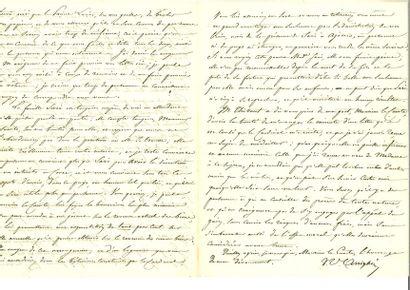 Arrighi de Casanova ( Jean-Toussaint). Lettre...