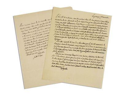 LA FAYETTE (Gilbert Du Motier de). 2 lettres...