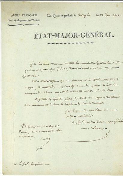 Lamarque ( Jean-Maximilien). Lettre autographe...