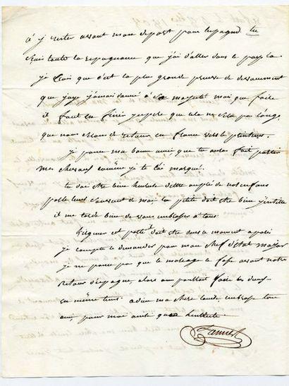 Lannes ( Jean). Lettre autographe signée à son épouse Louise Guéhenneuc. Burgos,...