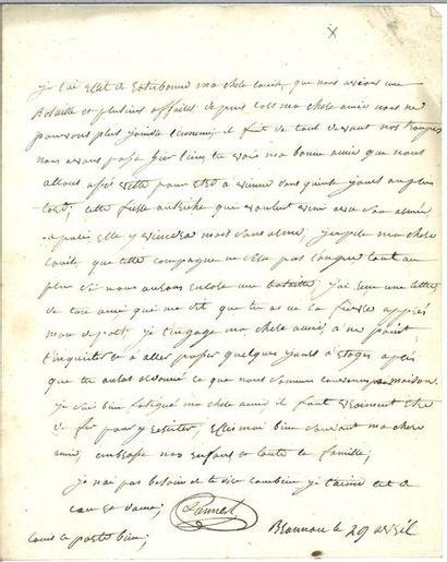 Lannes ( Jean). Lettre autographe signée...