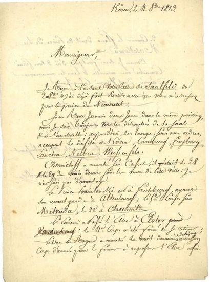LEFEBVRE-DESNOUETTES (Charles). 2 lettres...
