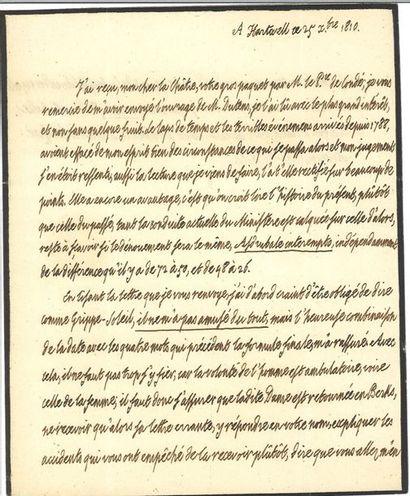 Louis XVIII. Lettre autographe à Claude-Louis...