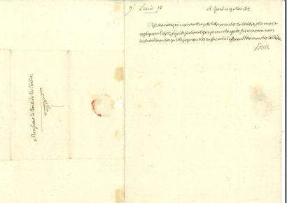 Louis XVIII. Lettre autographe signée à Claude-Louis...