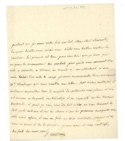NARBONNE-LARA (Louis-Marie de). Lettre autographe...
