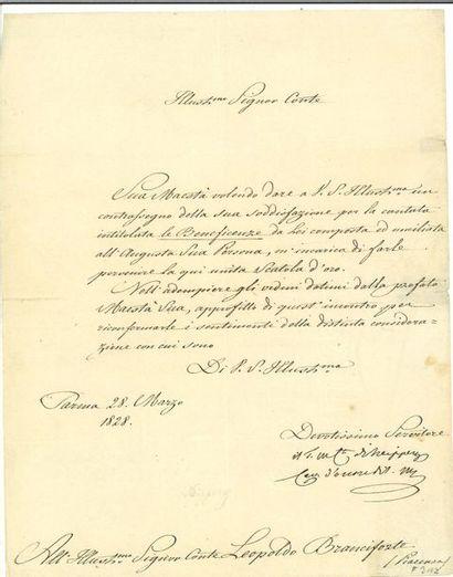 NEIPPERG (Adam Albert von). Lettre signée...