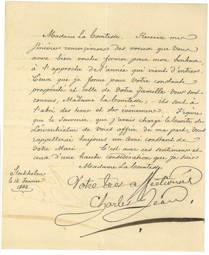 Bernadotte ( Jean-Baptiste). Lettre signée...