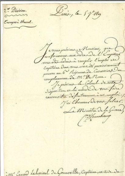 Berthier (Louis-Alexandre). Lettre signée...