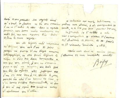 Boissy d'Anglas (François-Antoine de). Lettre...