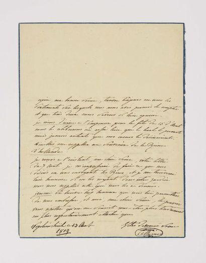 Catherine de Wurtemberg. Lettre autographe...