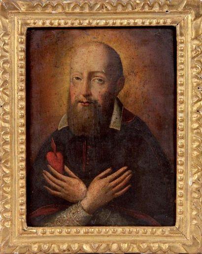 Ecole Italienne du XVIIe siècle « Saint Augustin...
