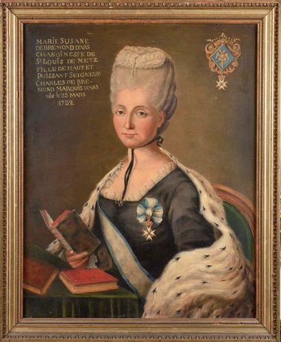 Ecole française du XVIIIe siècle. Marie Suzanne...