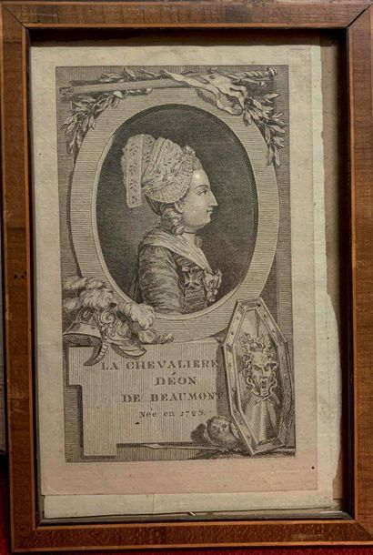 Un ensemble de 5 gravures, portraits du Chevalier...