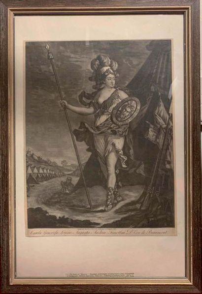 Un ensemble de 6 gravures, portraits du Chevalier...