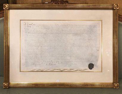 GUERNESEY. – BONAMY (Hélier). Acte signé...