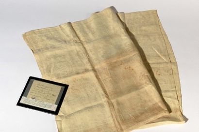 Large napkin used by Queen Marie-Antoinette, used during the Rite of the Sacrament,...