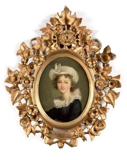 Elisabeth VIGEE LEBRUN, d'après (1775-1842) Ecole française du XIXe siècle Autoportrait...