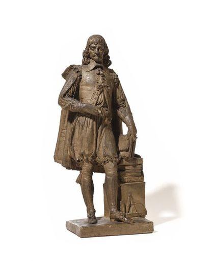 Figure en terre-cuite représentant un architecte...