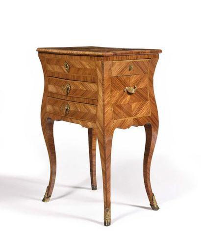 Table chiffonnière en placage de bois de...
