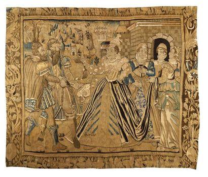 Rare panneau de tapisserie de la Marche (France)...