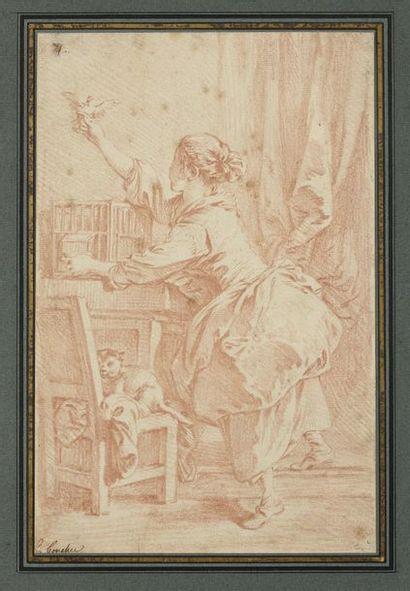 François BOUCHER (1703-1770) L'oiseau s'envole...