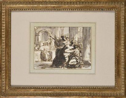 Attribué à Felice GIANI (1758-1823) Scène...