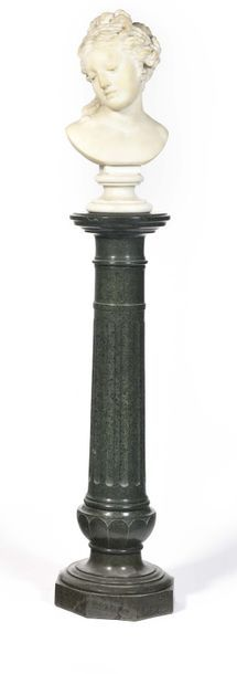 Sellette en forme de colonne cannelée en...