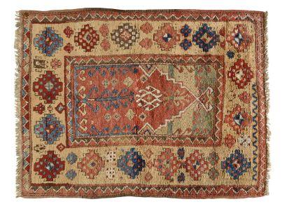 Rare et exceptionnel Karapinar (Anatolie centrale,Turquie) Velours en laine sur...